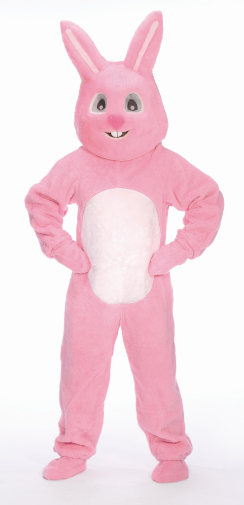 #1092HP - Pink Bunny Suit w/Mascot Head