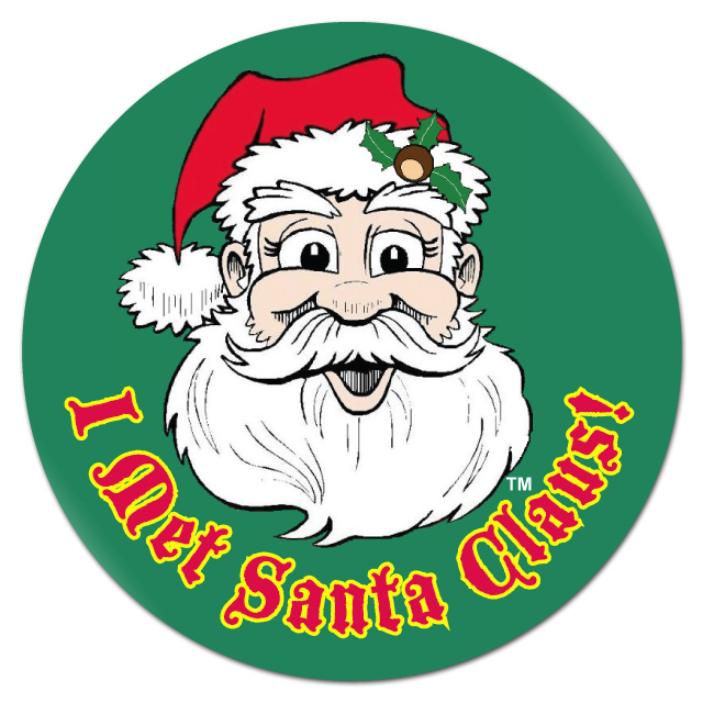 """I Met Santa Claus"" Stickers"