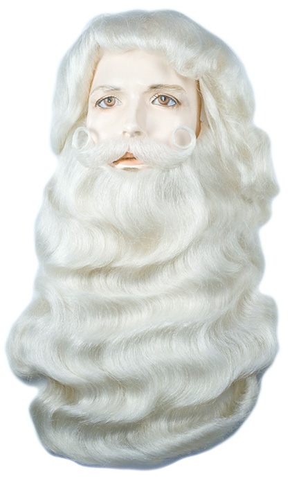 Lacey Yak #004Y Santa Wig & Beard Set w/Attached Mustache