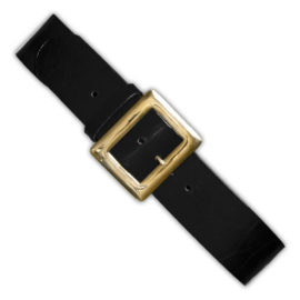 "Leather Santa Belt w/4"" Solid Brass Buckle"