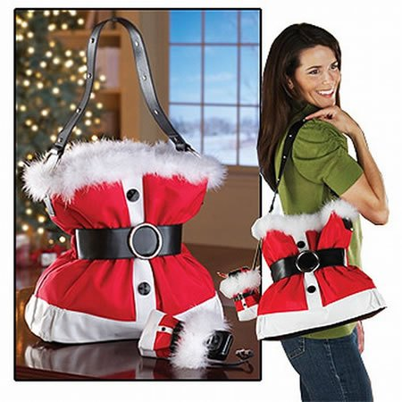 Santa Claus Suit Handbag w/Cellphone Holder