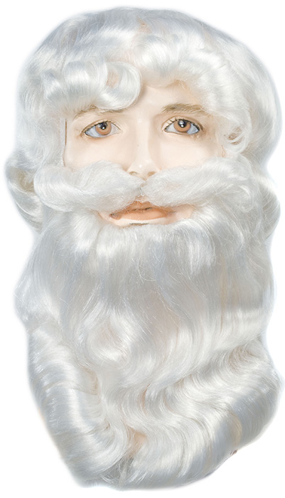 Lacey Washable Bargain #303V3 Santa Wig & Beard Set